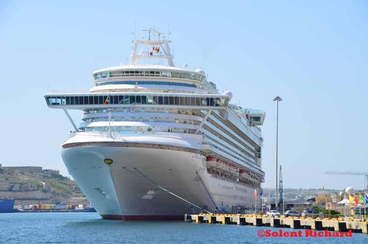 Azura in Grand Harbour Malta
