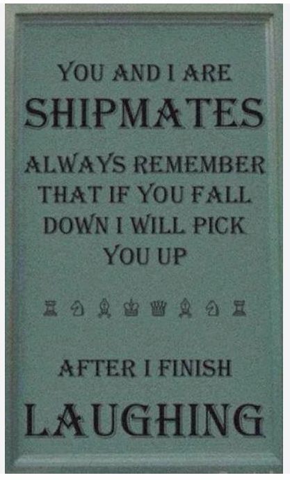 You and I are Shipmates