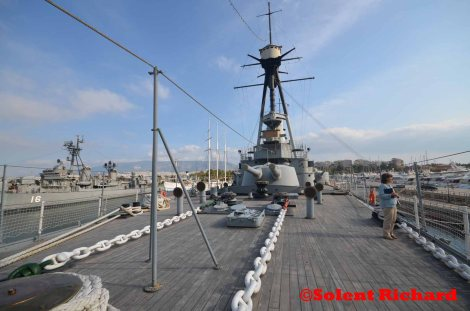 George Averof fore deck view