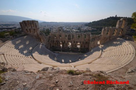 Odeon of Herodes Atticus from the Acropolis walls